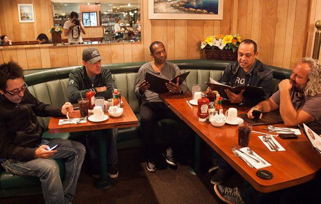 Rock Candy Funk Party, left to right: Renato Neto, Joe Bonamassa, Mike Merritt, Ron DeJesus, Tal Bergman.