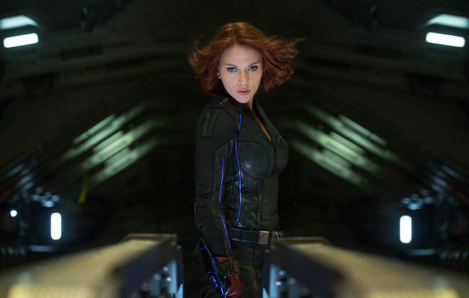 """Black Widow, played by Scarlett Johansson in """"Avengers: Age of Ultron,"""" tops the list of superheroes who deserve their own films."""