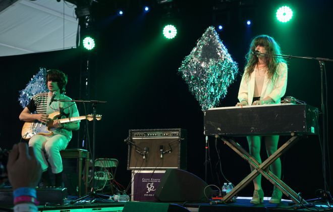 Beach House's Alex Scally, left, and Victoria Legrand will perform in Buffalo on Friday. (Photo by Noel Vasquez/Getty Images)