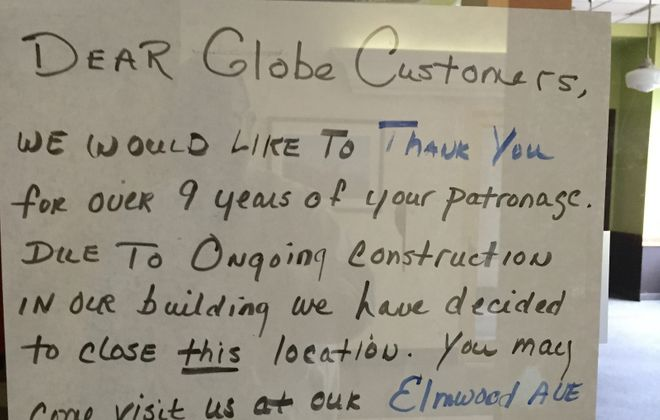 Globe Market has closed its downtown location after nine years.