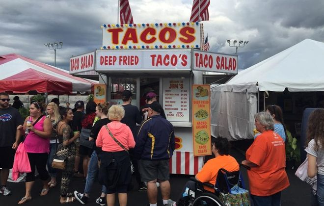 Jim's Taco's stand at the Erie County Fair. (Nick Guy/Special to The News)
