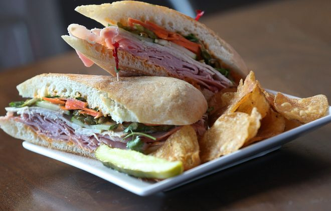 """This is """"The Body"""" sandwich from Joe's Deli at 534 Elmwood Ave. (Sharon Cantillon/Buffalo News)"""