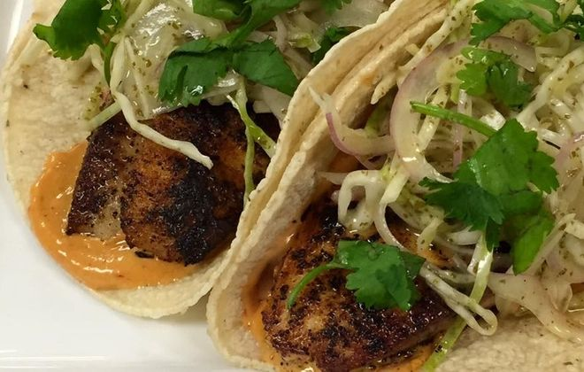 Grilled fish taco from Deep South Taco, courtesy of Deep South Taco's Facebook page.
