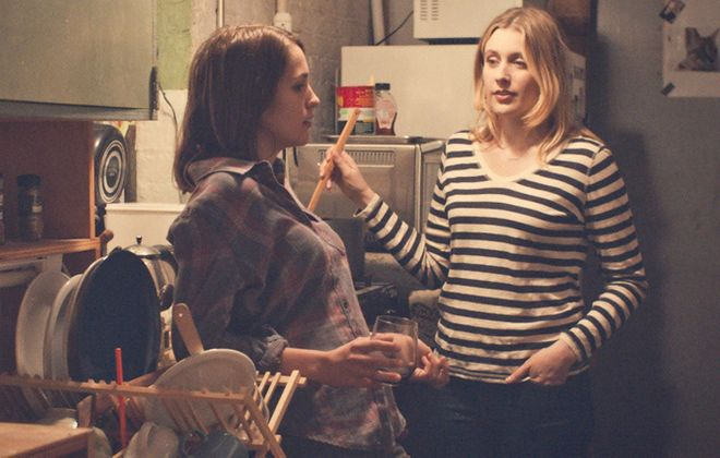 "Lola Kirke, left, and Greta Gerwig star in ""Mistress America."""