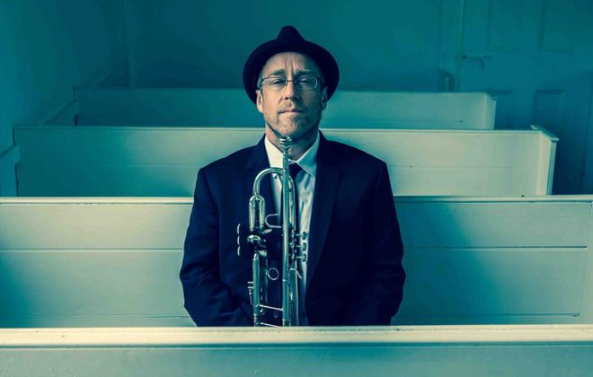 Trumpet player Dave Douglas and his jazz quintet get reviewed by Jeff Simon.