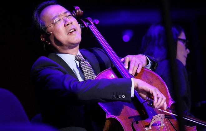 On his new disc, Yo-Yo Ma collaborates with pianist Kathryn Stott. (Getty Images)