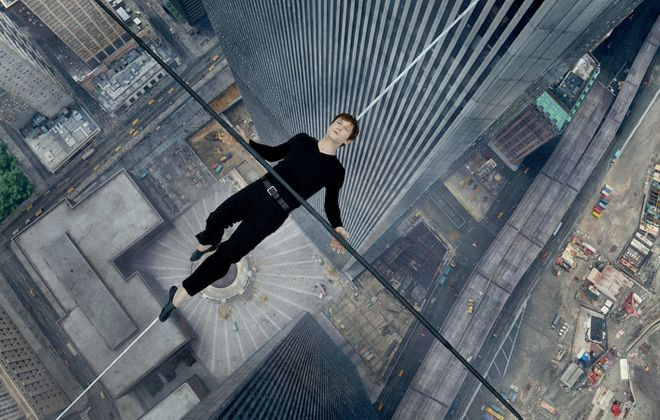 "A high-wire walk between the Twin Towers of the World Trade Center by Philippe Petite (played by Joseph Gordon-Levitt) is the focus of the new film ""The Walk."""