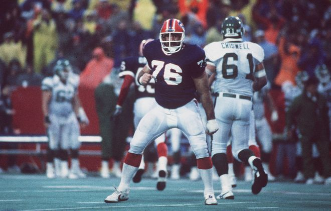 """""""He was a man of many dimensions. A tough guy. A great kicker. And a guy who really cared about people,"""" Bills nose tackle Fred Smerlas said of former teammate Tom Dempsey. (News file photo)"""