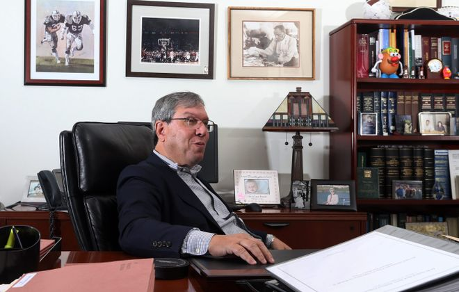 Jeffrey Kessler, who represented Tom Brady in the Deflategate hearings, is seen in his Park Avenue office in New York City on Sept. 16. (James P. McCoy/ Buffalo News)