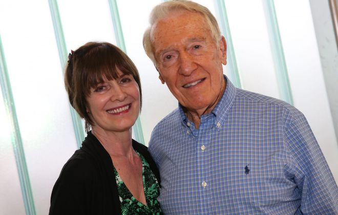 Revered former Bills head coach Marv Levy returned to Western New York briefly, including a paid event at Northtown Lexus. (Sharon Cantillon/Buffalo News)