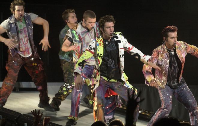 'N Sync, pictured performing at Ralph Wilson Stadium in 2001, is just one of the boy bands that Tim O'Shei discusses in this breakdown. (Buffalo News file photo)