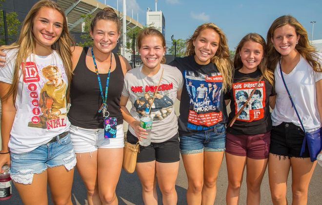 One Direction fans wait in anticipation for the boy band to hit the stage on Thursday night in Ralph Wilson Stadium. (Don Nieman/Special to The News)
