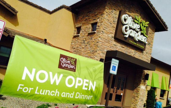 The new-style Olive Garden that opened today in Hamburg. (Robert Kirkham/Buffalo News)