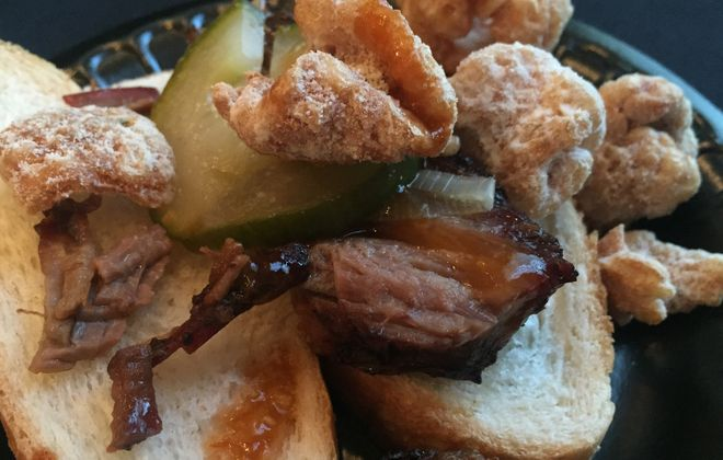 Toutant's brisket was just one of many terrific dishes at the Iron Event. (Lizz Schumer/Special to The News)