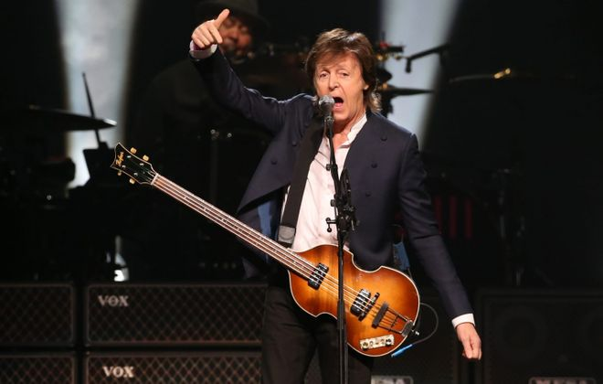 A sold-out crowd at the First Niagara Center enjoyed Paul McCartney's first concert in Buffalo, the final stop on his current tour. (Sharon Cantillon/Buffalo News)