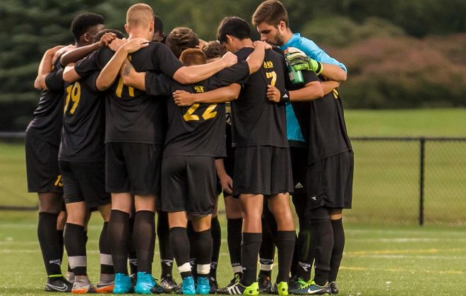 The St. Bonaventure men's soccer team has done its best to remain positive despite a 1-12-1 start. (Don Nieman/Special to The News)