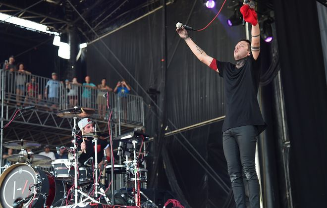 Twenty One Pilots' Josh Dun, left, and Tyler Joseph will come to Buffalo next summer. (Getty Images)