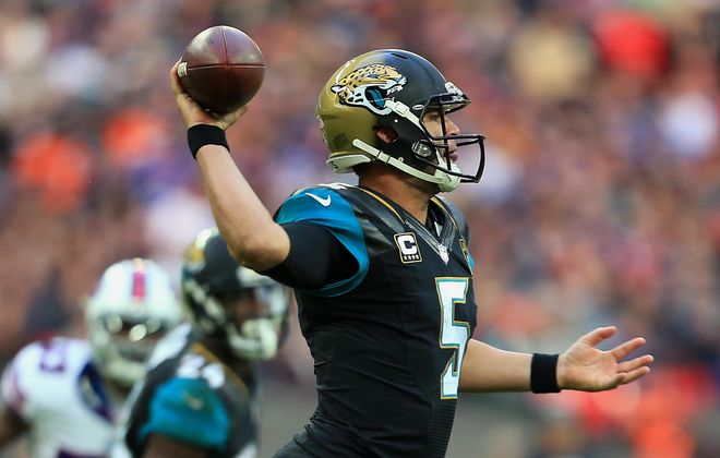 Blake Bortles of Jacksonville made a huge throw when he had to. (Getty Images)
