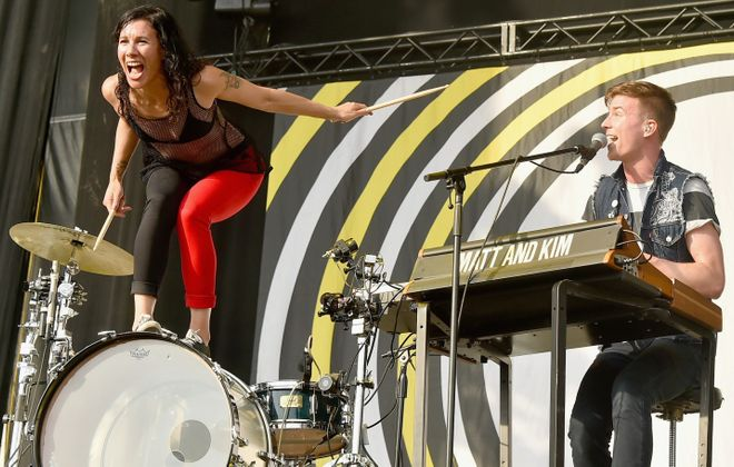 Matt and Kim will perform at Alternative Buffalo's Kerfuffle Before Christmas at the First Niagara Center. (Getty Images)