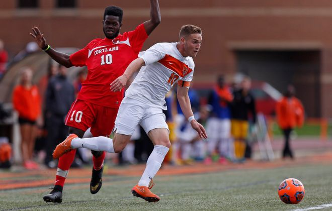 Luke Pavone's path to Buffalo State was rocky, but it was aided by the friendship of head coach Mark Howlett. (Photo credit: Dave DeLuca)