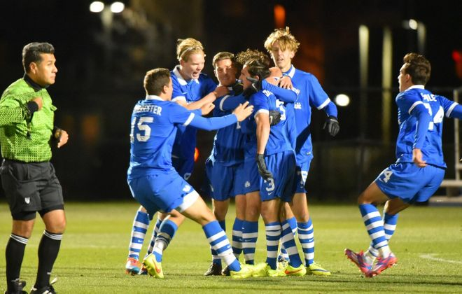The University at Buffalo men's soccer team's conference tournament run is a topic of conversation. (Photo credit: Ernie Aranyosi)