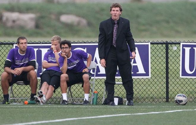 Niagara head coach Eric Barnes was dismissed after three years on the bench. (Buffalo News file photo)