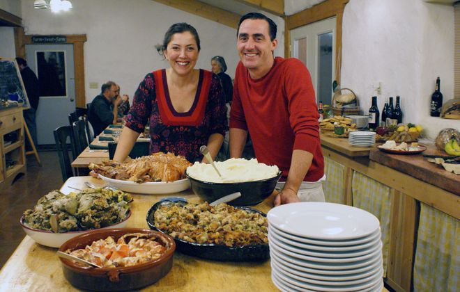 Kristine Hornung-Pottle of Buffalo, a seasoned party planner, catered a sumptuous Thanksgiving dinner at a friend's farm in Eastern Washington State. She says detailed planning is key to a successful event.