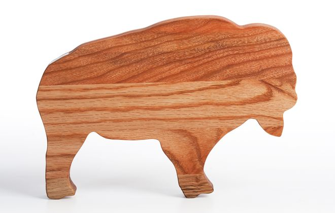 Buffalo cutting board available at Thin Ice on Elmwood.