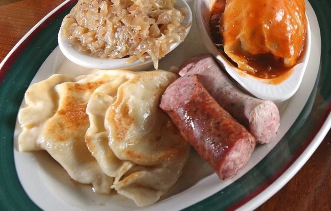 Polish platters can still be snagged on an abnormal Dyngus Day. Just don't let it blow away. (Robert Kirkham/Buffalo News file photo)
