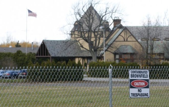 The clubhouse at the former Westwood Country Club, a building that could see new life as a Town of Amherst arts center under proposed redevelopment plans that need state approval of a procedural step. (Derek Gee/Buffalo News file photo)