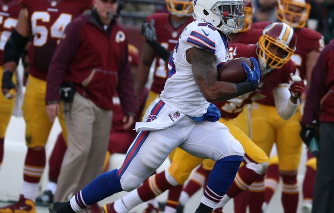 Bills running back Mike Gillislee – who broke loose for a 60-yard touchdown against Washington last week – might find some room to run against the Cowboys on Sunday. (James P. McCoy/Buffalo News)