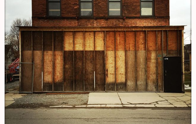 "Photographs of derelict structures in Buffalo are the focus of University at Buffalo architecture professor Miguel Guitart's photo series ""Americana."""
