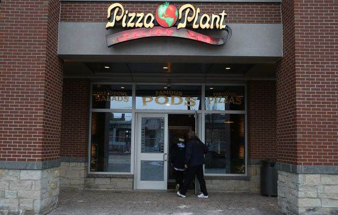 Pizza Plant Italian Pub on the ground floor next to the Courtyard Marriott at 125 Main St. (Sharon Cantillon/News file photo)