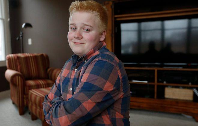 Aidan Doran has a decorated comedy career already despite being only 14 years old. (Robert Kirkham/Buffalo News)