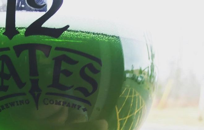 Green beer from 12 Gates Brewing Co.