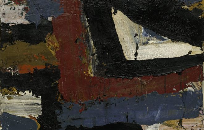 "An untitled 1958 painting by Al Held is part of the University at Buffalo Anderson Gallery's exhibition ""On the Front Lines: Military Veterans at the Art Students League of New York."""