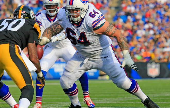 The Bills released guard Richie Incognito from the reserve/retired list Monday. (Harry Scull Jr./News file photo)