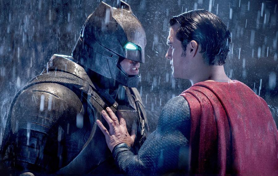 "Ben Affleck as Batman and Henry Cavill as Superman in ""Batman v Superman: Dawn of Justice."" (Clay Enos, Warner Bros. Pictures)"