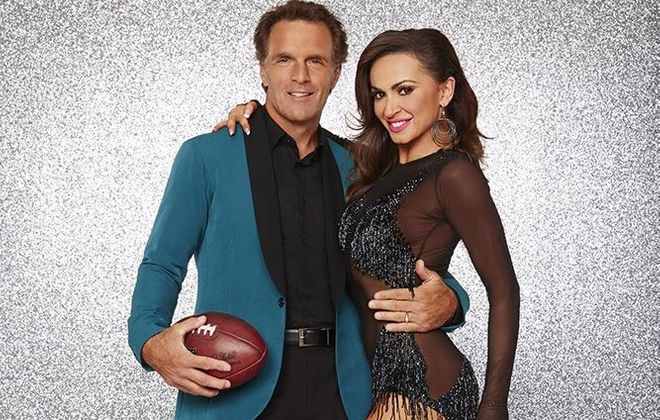 """Former Bills quarterback Doug Flutie joins the """"Dancing With the Stars"""" cast. Karina Smirnoff is his dancing partner. (Photo courtesy ABC)"""