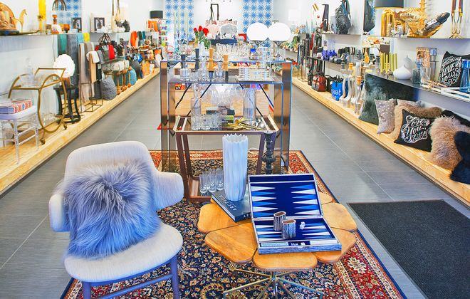 Shop downtown for home decor