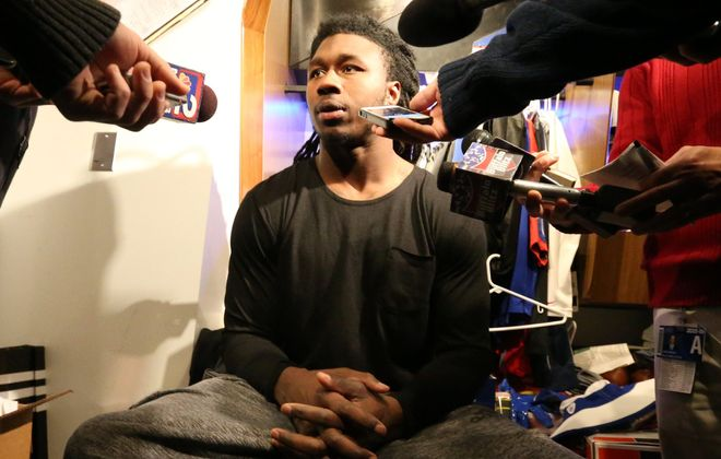 Janine Talley sees the potential for leadership in Bills wide receiver Sammy Watkins.  (James P. McCoy/ Buffalo News)