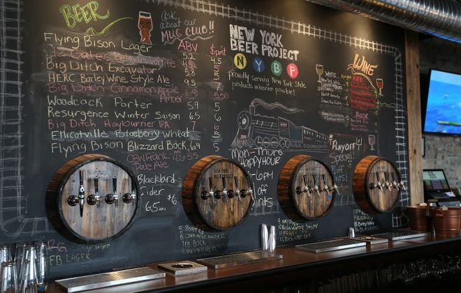 New York Beer Project's taproom in Lockport. (Sharon Cantillon/Buffalo News)