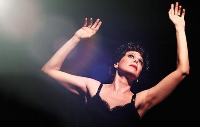 """Natasha Drena, who plays Judy Garland in """"End of the Rainbow,"""" says she connects with the strength, vulnerability of the actress. (Photo by BreeAnne Clowdus)"""