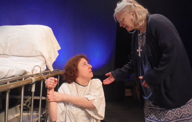 """Subversive Theatre's Associate Artistic Director Kelly Beuth, left, stars as Keely and Kate Olena is Du in """"Keely and Du."""""""