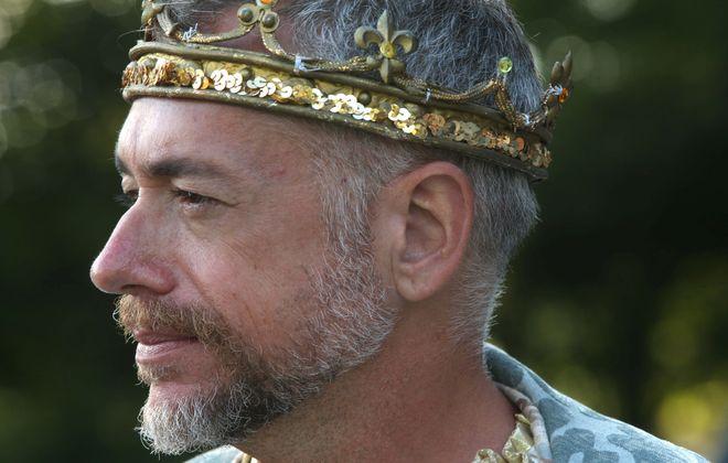 """Tim Newell, shown in Shakespeare in Delaware Park's """"Hamlet"""" in 2013, left Buffalo's theater scene for Chicago."""
