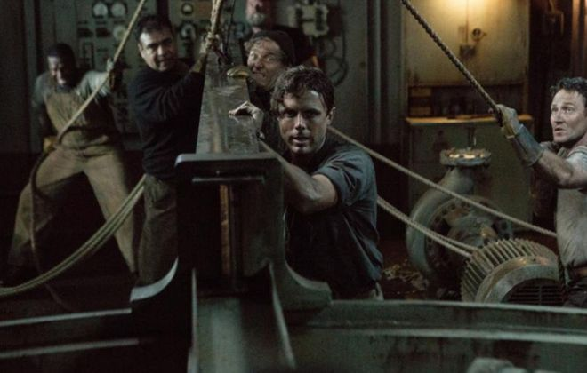 """Casey Affleck, front, stars in """"The Finest Hours."""""""