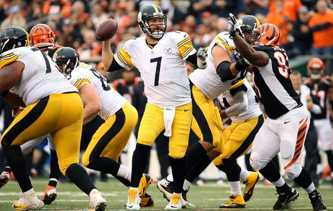 Ben Roethlisberger and the Steelers have a substantial edge in postseason experience as they go on the road to face the Bengals in Cincinnati. Pittsburgh is favored by 2½ points in Saturday's playoff game.