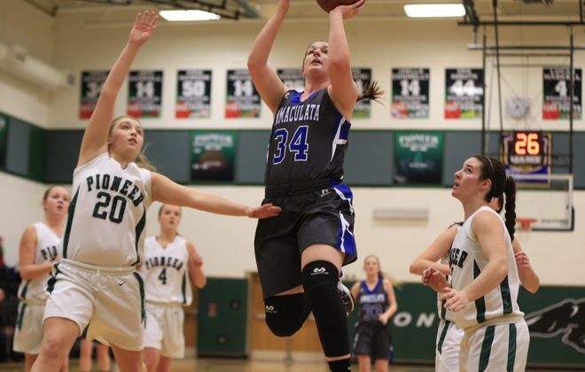 Jordan Heinold broke the Immaculata career scoring record with a three-pointer against Pioneer.