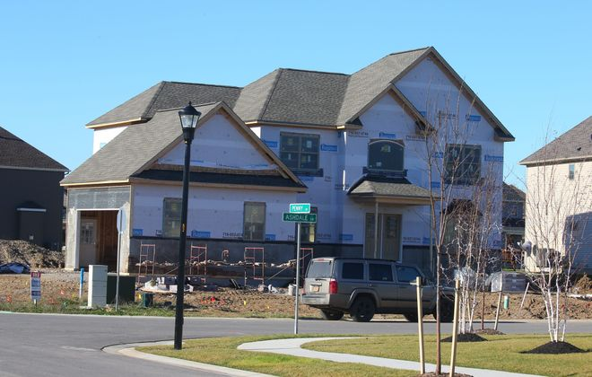 Western New York counts primarily on local companies for new housing, mainly in suburbs like Amherst. (John Hickey/Buffalo News)