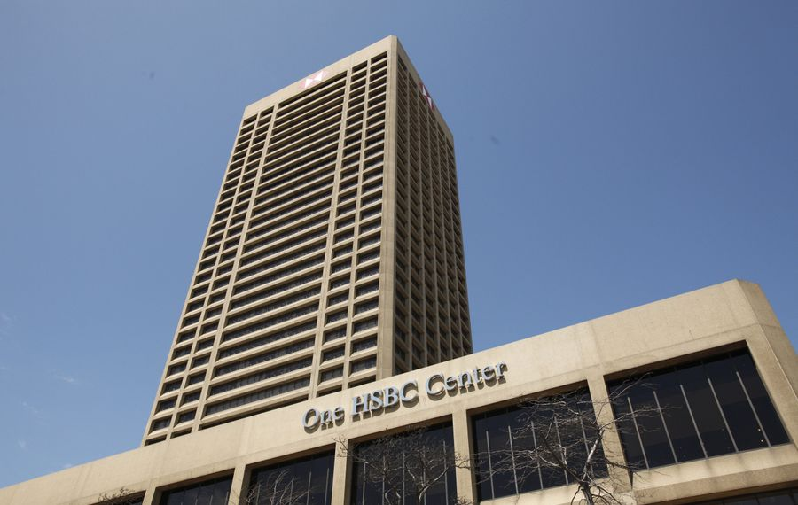 HSBC may not be in the downtown tower anymore. But last year, the bank finished $35 million worth of upgrades to its other two area locations.  (Derek Gee/Buffalo News)